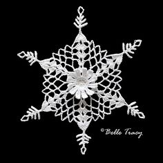 Ravelry: Project Gallery for Daisyflake pattern by Deborah Atkinson Free Crochet Snowflake Patterns, Crochet Snowflakes, Crochet Stitches Patterns, Christmas Snowflakes, Crochet Motif, Christmas Angels, Christmas Christmas, Crochet Angels, Crochet Stars