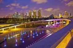 Singapore Marina Barrage @ Dusk by Kenny Teo (zoompict), via Flickr