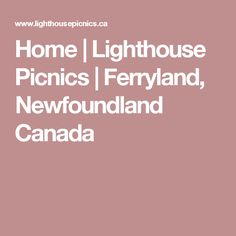 Home | Lighthouse Picnics | Ferryland, Newfoundland Canada