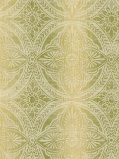 Vintage Tile Wallpaper | AmericanBlinds.com #green #gold #yellow