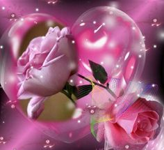 Just for you. Beautiful Flowers Pictures, Flower Pictures, Love Flowers, Love Heart Images, Heart Pictures, Heart Bubbles, Romantic Gif, Hearts And Roses, Pink Hearts