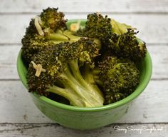 Oven Roasted Broccoli With Parmesan Cheese