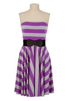 Contrast Stripe Tube Dress available at #Maurices