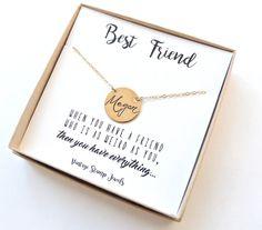 Best Friend Gift/Custom Name Necklace/gift by vintagestampjewels