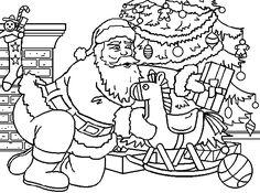 Christmas Adult Coloring pages Ninjago Coloring Pages, Coloring Pages To Print, Colouring Pages, Adult Coloring Pages, Coloring Books, Christmas Tree With Gifts, Christmas Colors, All Things Christmas, Kids Christmas