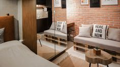 With the help of a reliable contractor, the owner of this condo was able to achieve his dream aesthetic