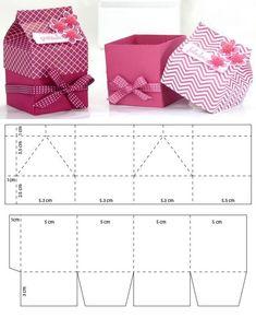 Mini milk carton for souvenirs – # cardboard. Mini Origami, Paper Crafts Origami, Diy Paper, Origami Owl, Paper Art, Diy Gift Box, Diy Box, Diy Gifts, Gift Boxes