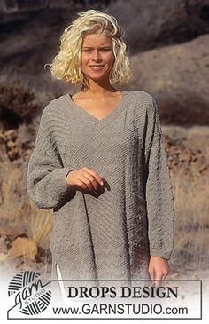 "DROPS 34-9 - DROPS jumper in ""Paris"". Size S – L. - Free pattern by DROPS Design"