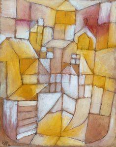 Paul Klee - Rosa-Gelb (Fenster und Dächer)