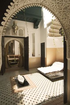 Modern Moroccan Bathroom Design i'd probably never have this bathroom, but, dreams are free! | my