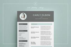 Resume/CV | Professional Resume Template | CV Template | Resume Advice | Cover Letter | Word (Mac or PC) | Photoshop | inDesign | Instant Digital Download |Carly by Keke Resume Boutique on @creativemarket