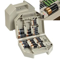 2/3 from Walter Drake  Battery Case with Tester - Storage & Organizers - Home - Walter Drake