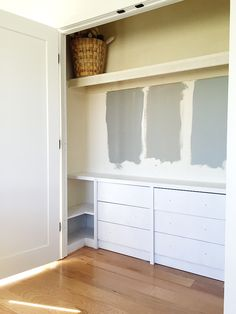 Ikea Hack: Built In Dressers For The Closet