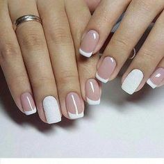 Easy nail art design ideas to try - pretty nail polish inspiration. If you're bored of your classic, monotone nail color and want to try out something pretty these Easy nail art design ideas to try. Latest Nail Designs, Nail Art Designs, French Nails, Cute Nails, Pretty Nails, Hair And Nails, My Nails, Prom Nails, Nail Deco