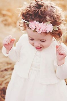 Too cute.flower girl hair piece
