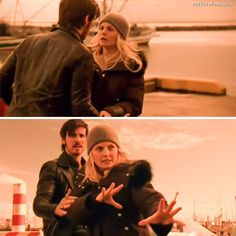 Colin O'Donoghue -Killian Jones - Captain Hook - Jennifer Morrison - Emma Swan on Once Upon A Time