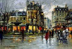 Antoine Blanchard(1910 - 1988)Place Pigalle