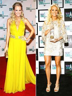 Sparkling gowns, hot pants, tutus: The CMA Awards host has worn it all over the past 11 years Celebrity Red Carpet, Celebrity Style, Carrie Underwood Cma, Country Music Awards, Cma Awards, Prom Dresses, Formal Dresses, Celebs, Celebrities
