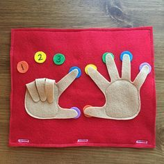 Finger Counting Page; Toddler Quiet Book, Busy Bag, Travel Book, Preschool Games, Educational Activi- Osorio Rocio Finger Counting Page; Diy Quiet Books, Felt Books, Baby Quiet Book, Diy Baby Books, Diy Toddler Books, Preschool Crafts, Preschool Activities, Crafts For Kids, Preschool Learning