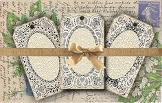 Vintage style gift tags Printable tags on Digital by 1stChoiceShop