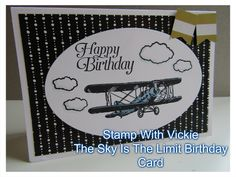 Stamp With Vickie: The Sky Is The Limit Birthday Card