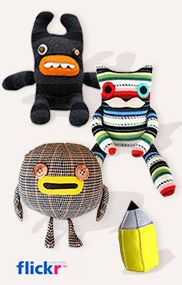 Several cute variations on the Sock Monkey.