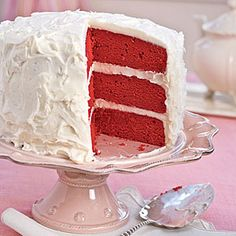 Red Velvet Layer Cake | Our 5-Cup Cream Cheese Frosting is the secret to this scrumptious Red Velvet Cake that's perfect for Valentine's Day