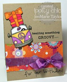 something groovy-- BRAND NEW {ippity} release from unity stamp company created by {ippity chick} jen marie taylor