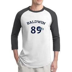 ReBorn Seahawk Baldwing Men Essential Raglan T-shirt Black -- Awesome products selected by Anna Churchill