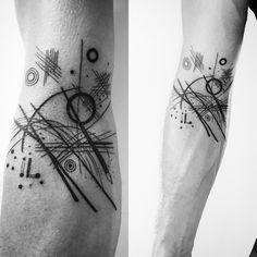 Kandinsky tattoo - Black Lines 1924 made by Fineline Tattoo Copenhagen #finelinetattoocph