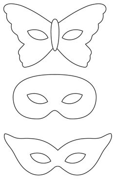 Mardi Gras Mask Craft {and Template} Printable Masquerade