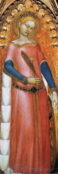 Giovanni da Milano - Santa Caterina da Alexandria (Polittico di Prato, pannelli con Santi) - 1353-1363 - Prato, Pinacoteca
