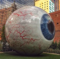 Giant Eyeball in Dallas, TX Main st. Across from The Joule