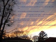 One Minute Meditation written by Christy Diane Farr    Photo: Vanilla Sky, Greenville, NC 2011