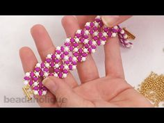 ▶ How to do a Modified Right Angle Weave with Two Hole Beads  ~ Seed Bead Tutorials