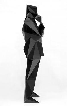 Les sculptures à facettes de Xavier Veilhan xavier veilhan polygone 10 581x920