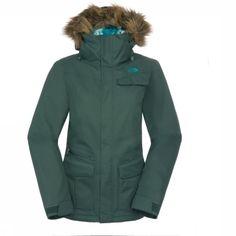 north face jacket, fake fur