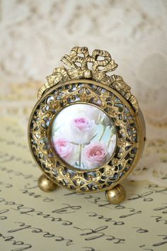 Fripperies:  Beautiful Small Antique French Ormolu #Picture #Frame.