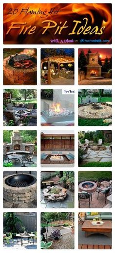 20 DIY Flaming Hot Fire Pit Ideas #outdoors #grilling #BBQ #diy #garden by jana