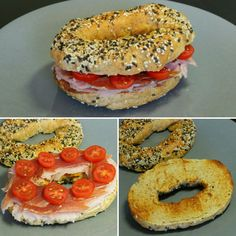 Bagels Proteicos de Canela con jamón, pavo y tomate – Fitlicioso