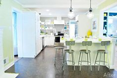 Before & After: Kitchen Makeover Projects To Inspire Your Next Home Renovation Young House Love, Habitat For Humanity, Big Kitchen, Kitchen Decor, Kitchen Ideas, Kitchen Cost, Awesome Kitchen, Kitchen Layout, Kitchen Colors