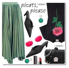 """""""Give Me Pleats, Please!"""" by fshionme ❤ liked on Polyvore featuring Christopher Kane and pleats"""