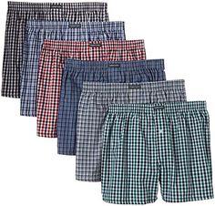 Lower East – American Style – Boxer – Homme – Lot de 6: Taille plus petit d'env. une taille, veuillez en tenir compte lors de la commande…