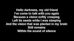 hello darkness my old friend Friends Youtube, Old Friends, Darkness, Cards Against Humanity, Music, Musica, Musik, Muziek, Music Activities