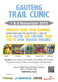 Get your trail running fix in PRINT and DIGITAL issues of TRAIL magazine South Africa. Be the best trail runner you can be. How To Run Faster, Trail Running, Clinic, Improve Yourself, Thoughts, Events, Happenings, Cross Country Running, Ideas