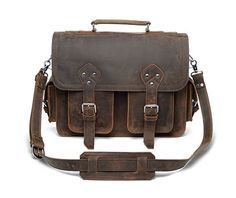 Leather Briefcase Messenger Bag Laptop Case by TheLeatherBriefcase, $249.00