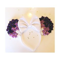 Purple Ombre Rose Minnie Mouse Ears by ShopHouseOfMouse on Etsy, $26.00