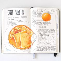 Recipt sketchbook By ana rastorgueva