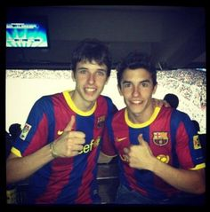 Marc Marquez with his brother (Alex Marquez), watching his favorite football team, FCBarcelona! #ViscaBarca