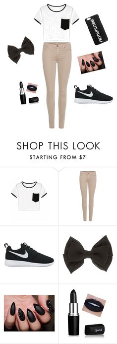 """""""Cute Or Nah..??😍"""" by xitsgracieex ❤ liked on Polyvore featuring beauty, 7 For All Mankind and NIKE"""